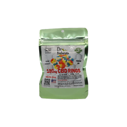 GUMMY APPLE RINGS 180MG - 6PC BAG