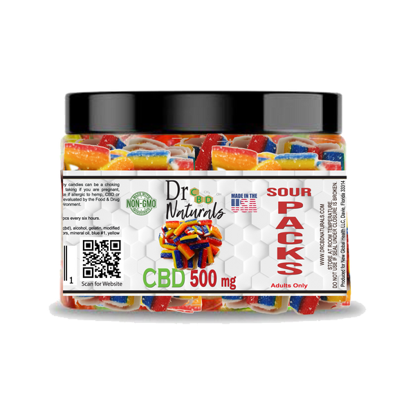 GUMMY SOUR PACKS 500MG