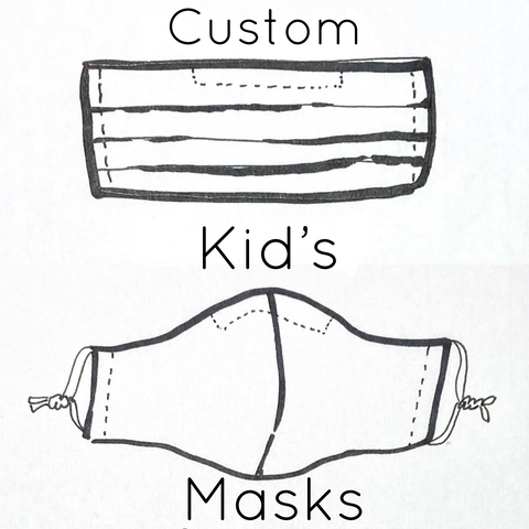 Big Kids Reusable Fabric Mask CUSTOM