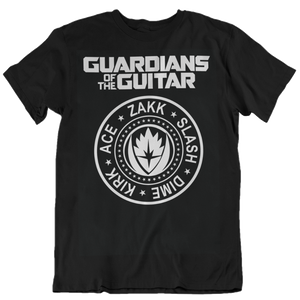 Guardians Of The Guitar T Shirt black