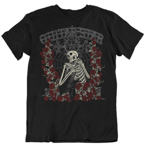 Skeleton Rose T-Shirt black