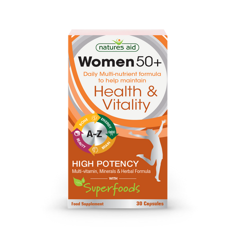 Natures Aid Woman 50+ Daily Multi-nutrient formula N30