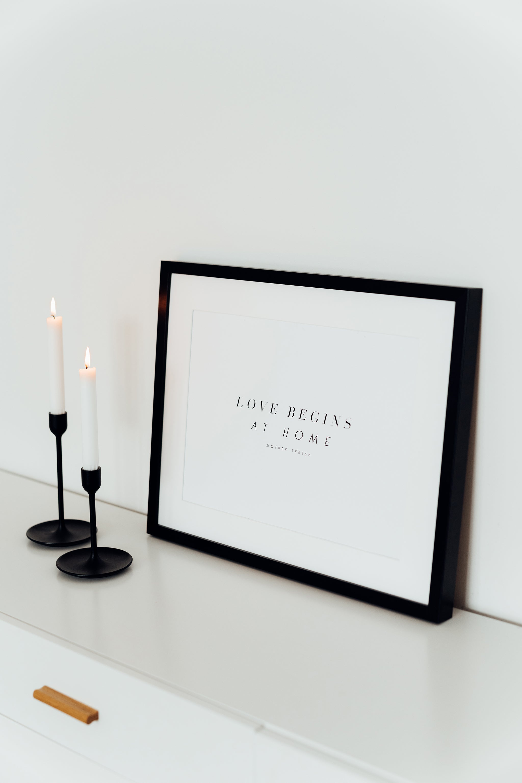 Love begins at home - A3 Poster