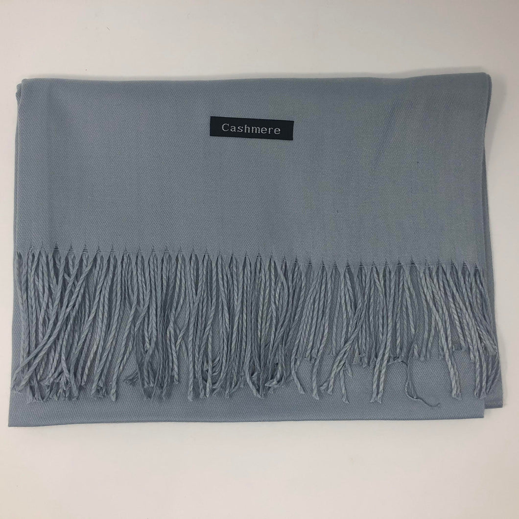 Blue Cashmere Scarf-Fi&Co Boutique