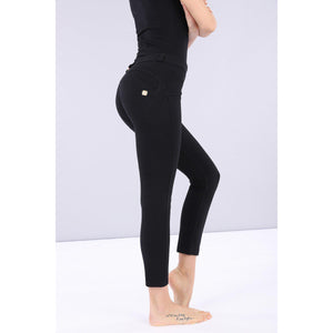 Freddy WR.UP® regular-rise skinny-fit ankle-length stretch cotton trousers-Black-Fi&Co Boutique