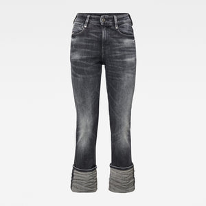 G-Star 4311 Noxer High Straight Jeans-Vintage Basalt Destroyed-Fi&Co Boutique