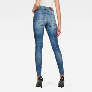 G-Star RAW 3301 High Waist Skinny Jeans-Medium Indigo Aged-Fi&Co Boutique