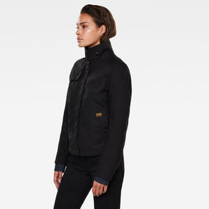 G-Star Raw Slim Overshirt Jacket-Dark Black-Fi&Co Boutique