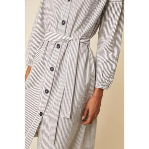Great Plains Buttoned Shirt Dress-Navy-Fi&Co Boutique