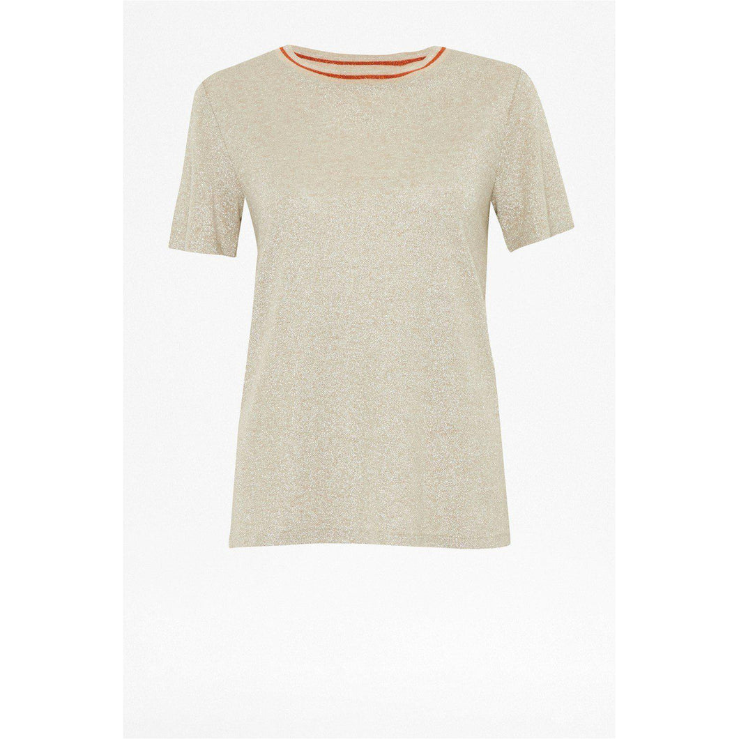 Great Plains Madeleine Jersey Glitter Tee-Gold-Fi&Co Boutique