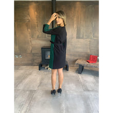 Load image into Gallery viewer, Hanita Green and Black Shift Dress-Green/Black-Fi&Co Boutique