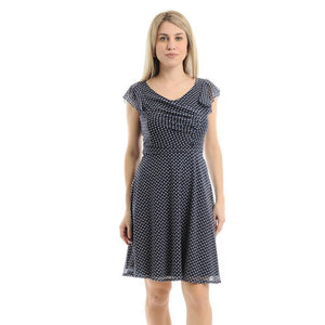 Lokita Milano Blue and White Dress-White/Blue-Fi&Co Boutique