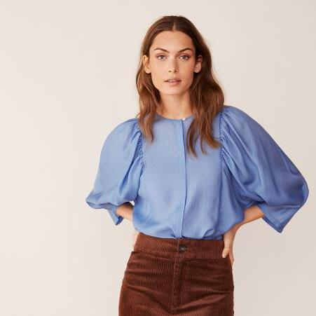 Part Two Everlyn Blouse-Dusky Blue-Fi&Co Boutique