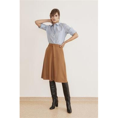 Part Two Taissa Skirt-Dark Camel Melange-Fi&Co Boutique