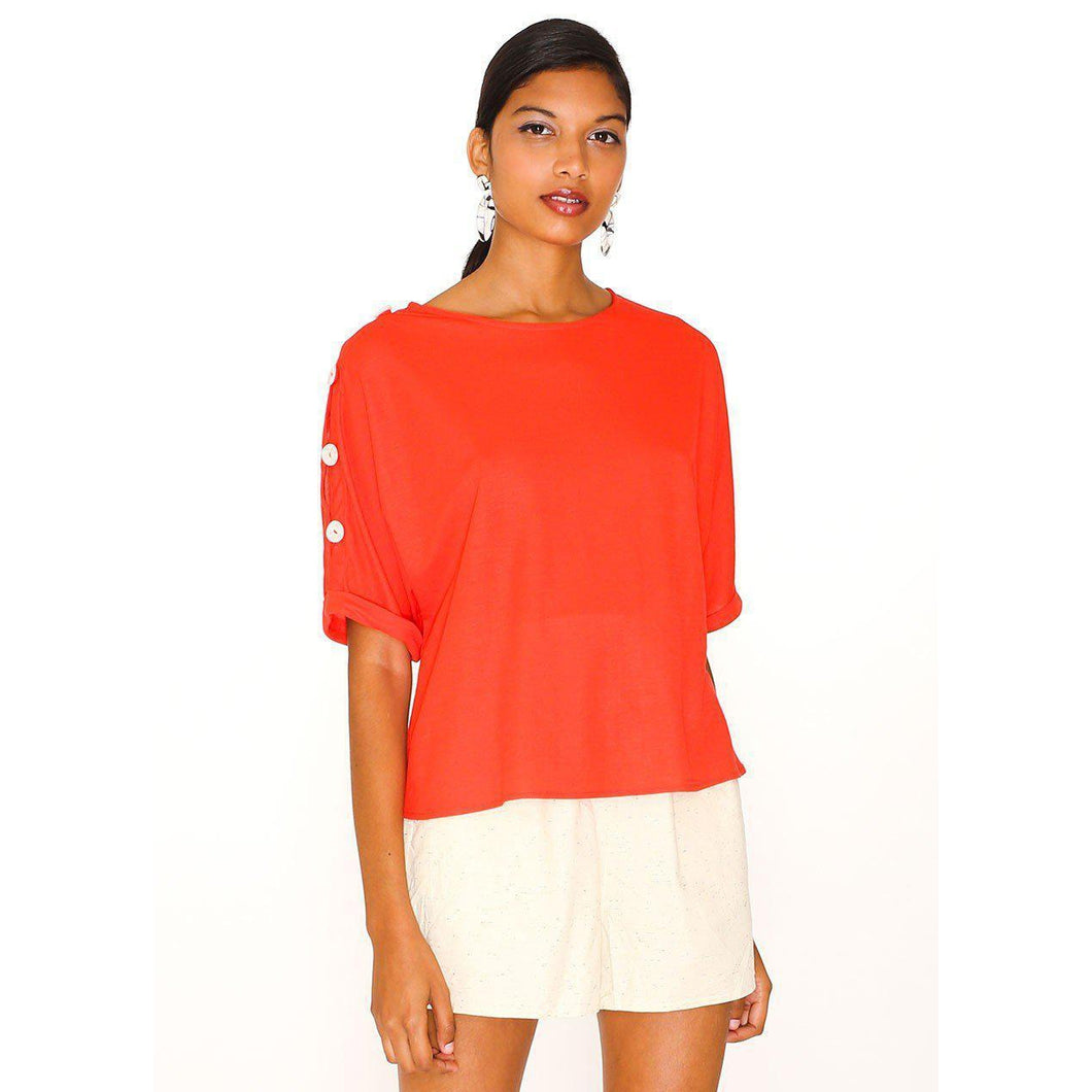 Pepaloves Diana Blouse-Red-Fi&Co Boutique