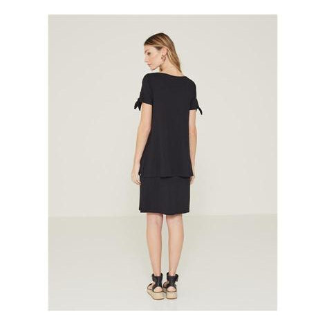Yerse Double-Layered Dress-Black-Fi&Co Boutique
