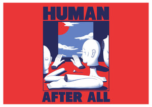 HUMAN AFTER ALL POSTCARD