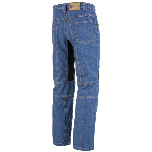 Xelement 055029 Men's Classic Fit Blue Denim Motorcycle Racing Pants with X-Armor