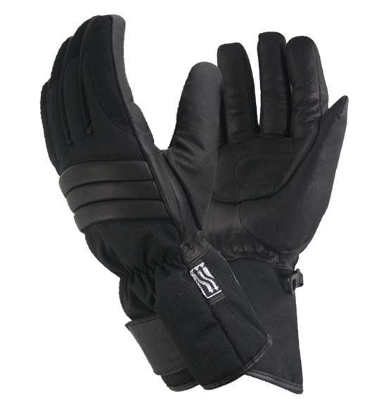 Xelement XG443 'Tri-Tex' Mens Black Fabric Padded/Waterproof Gloves