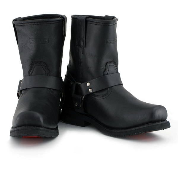 Xelement 1436 Men's Black Short Harness Motorcycle Boots