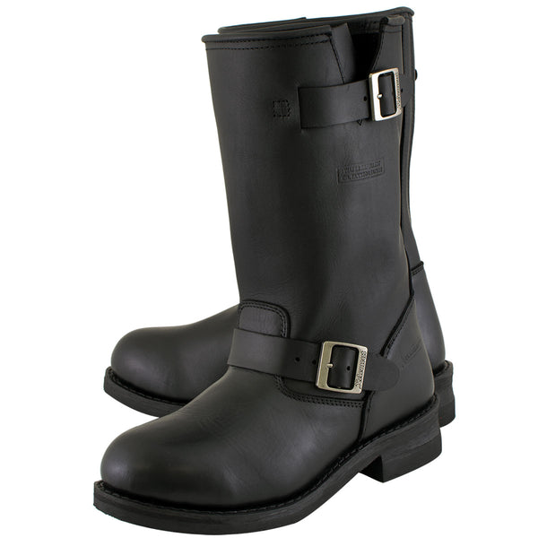 Xelement 1440 'Classic' Men's Black Engineer Motorcycle Leather Boots