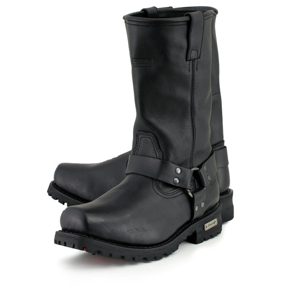 Xelement 1443 Men's Black Harness Motorcycle Biker Boots