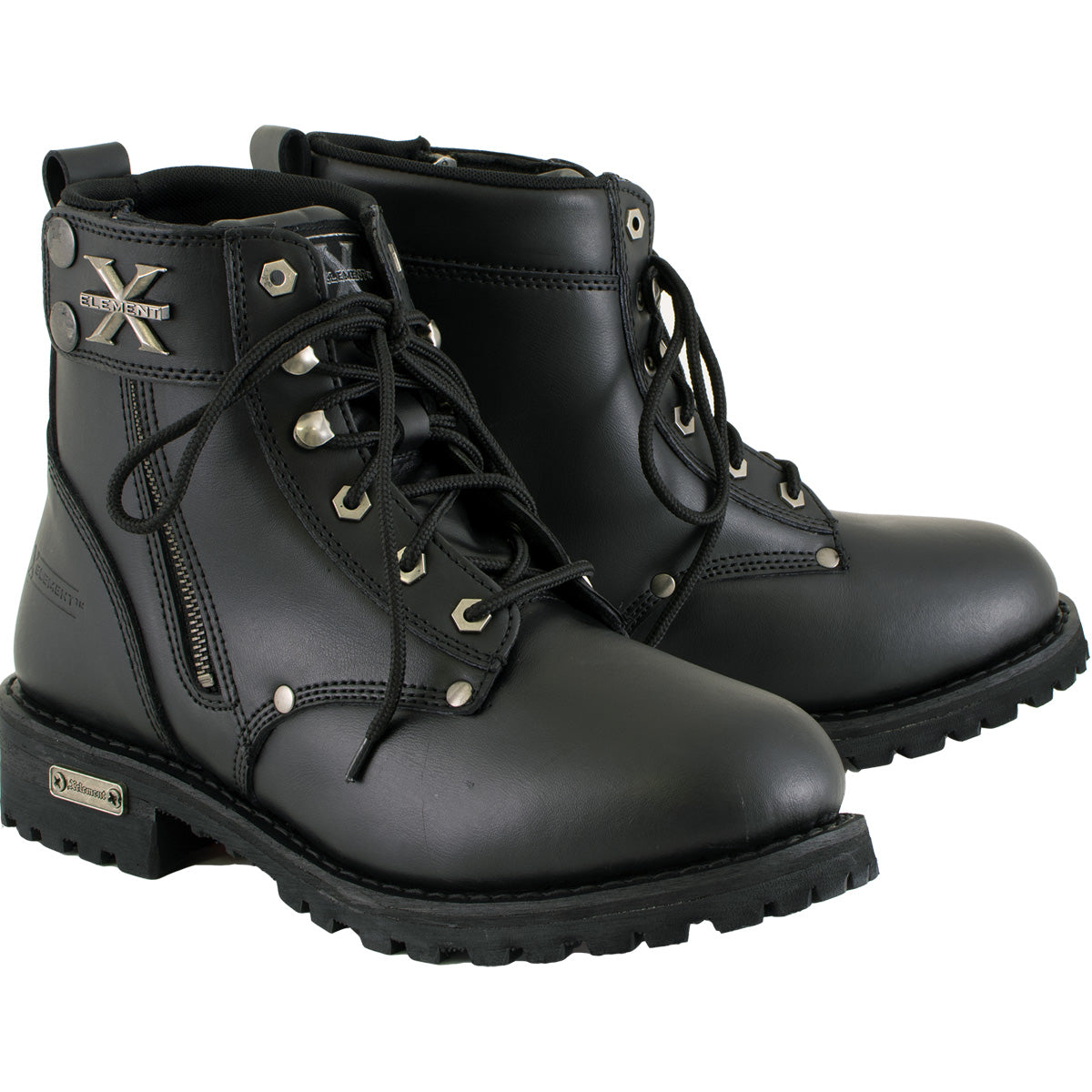 Xelement 1505 Men's Black Advanced Lace Up Motorcycle Boots
