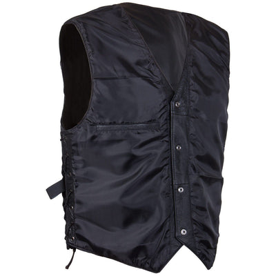 Classic Style 201L Men's Leather  Side Lace Vest