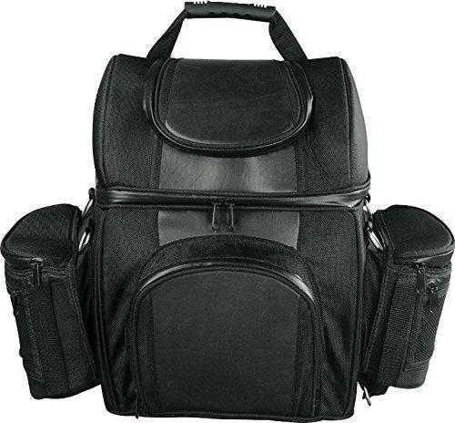 Milwaukee Leather SH682-Black Medium Motorcycle Textile Sissy Bar Travel Bag