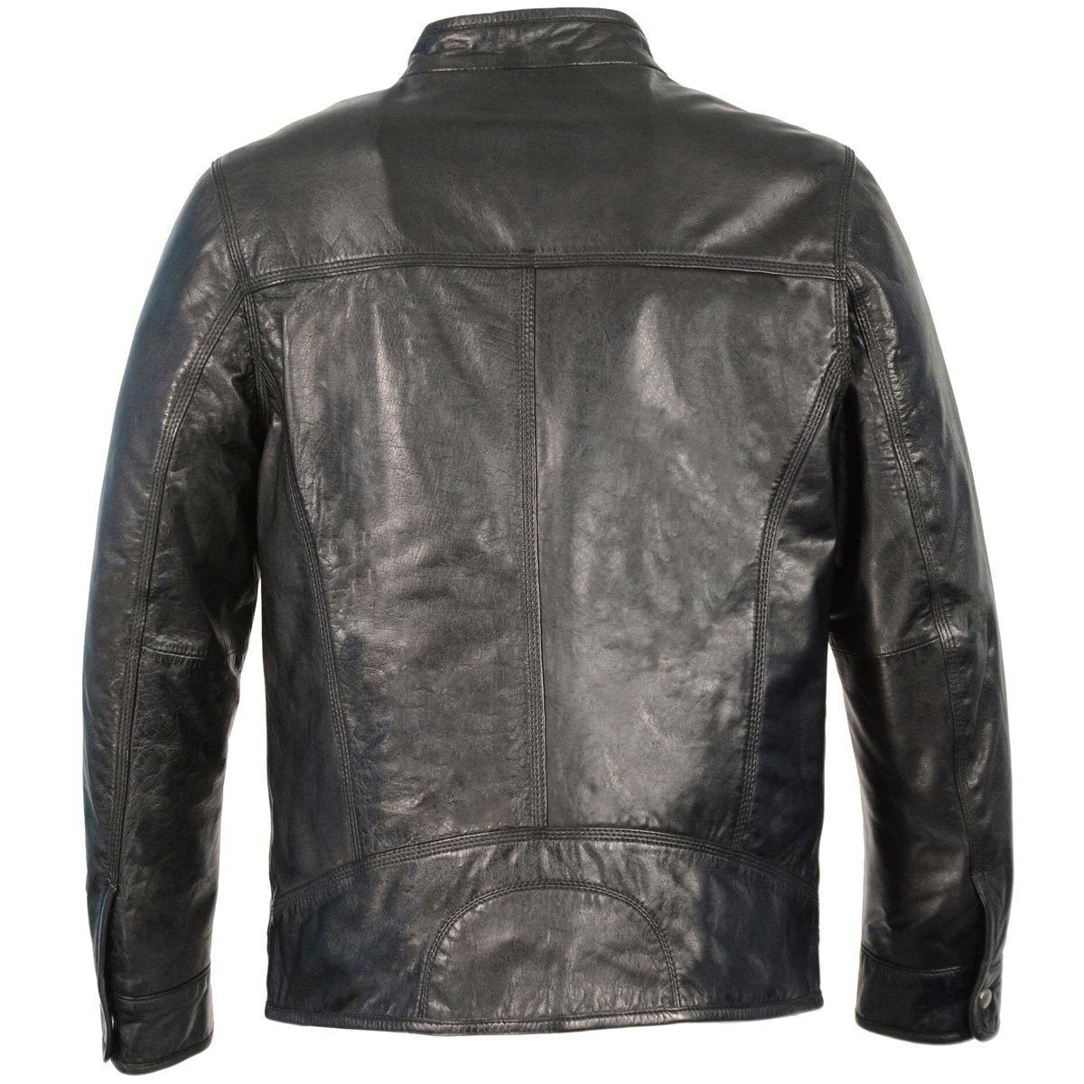 Milwaukee Leather SFM1865 Men's Black Classic Leather Jacket with