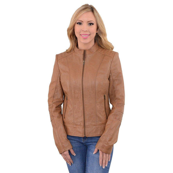 Milwaukee Leather SFL2860 Saddle Women's Zip Front Stand Up Collar