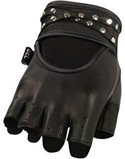 Xelement XG461 'Idol' Women's Black Fingerless Leather Gloves