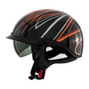 ZOX ST-235A 'Roadster DDV' Orange Motorcycle Open Face Helmet with
