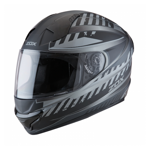 ZOX ST-11118 'Thunder 2' Blade Matte Grey and Black Full-Face Motorcycle Helmet