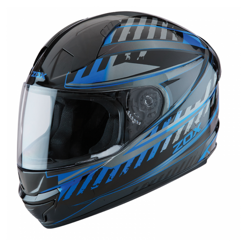 ZOX ST-11118 'Thunder 2' Blade Blue and Black Full-Face Motorcycle Helmet