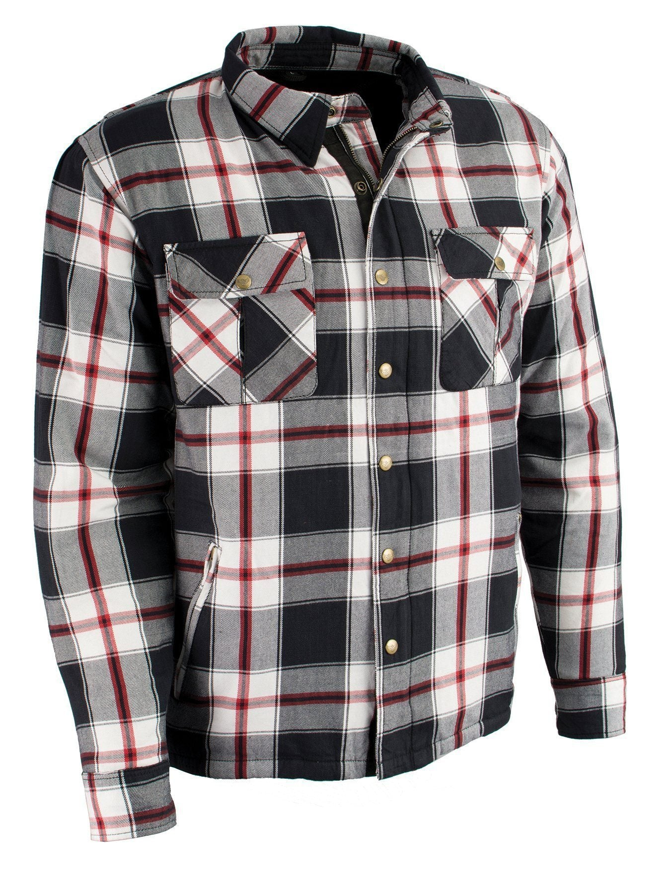 Milwaukee Performance-MPM1635-Men's Armored Flannel Biker Shirt w/ Aramid® by DuPont™ Fibers