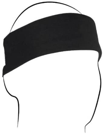 Zan Headgear B017 100% Cotton Premium Black Bandanna