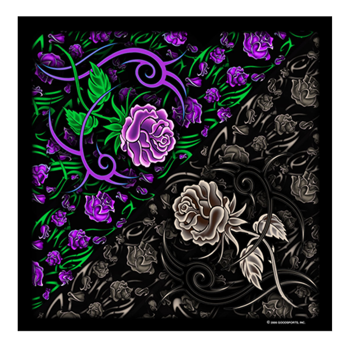Hot Leather BAB1001 Tribal Rose Bandana