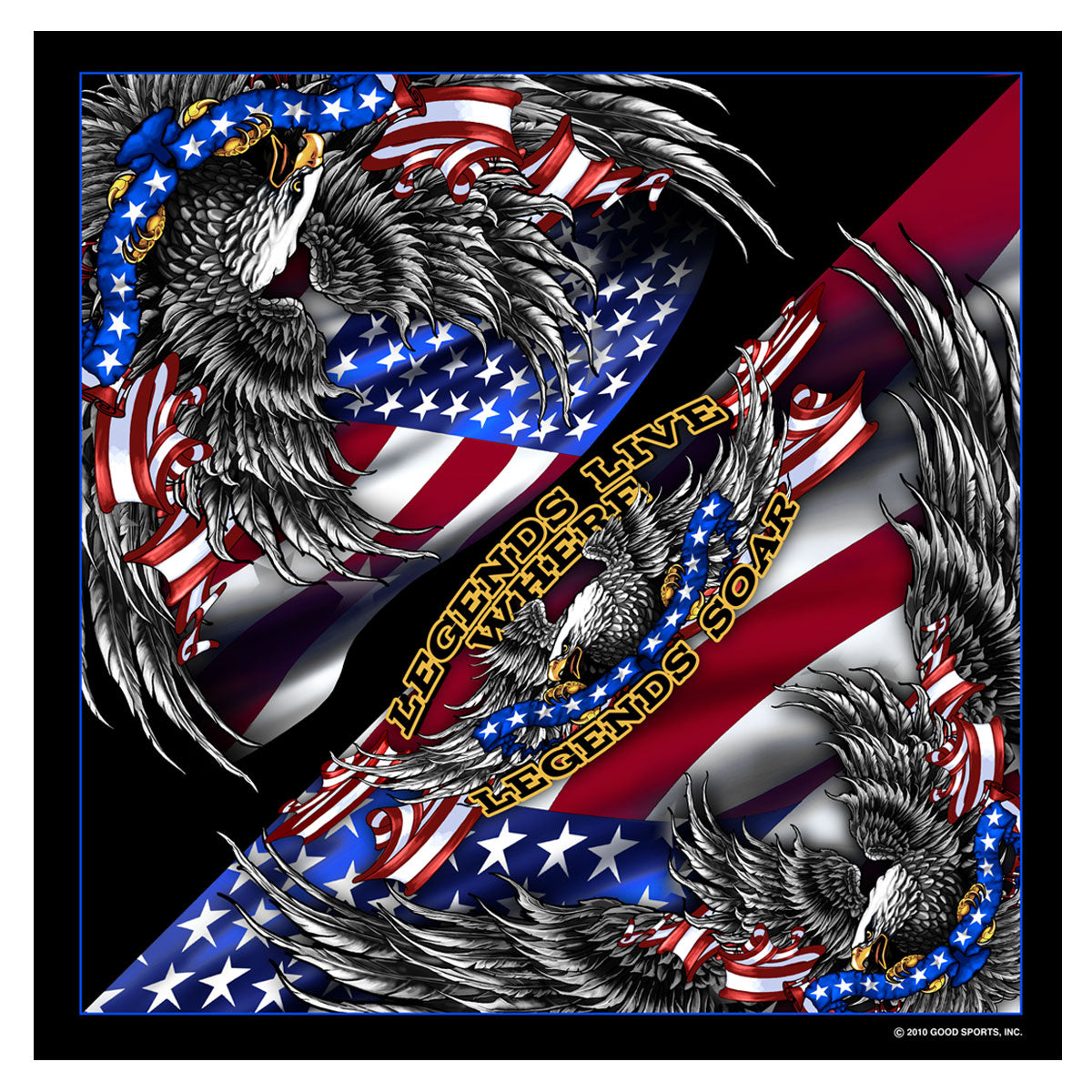 Hot Leathers BAB1044 Patriotic Upwing Bandana
