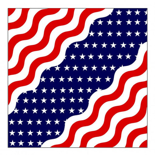 Hot Leathers BAB1079  Wavy American Flag Bandana