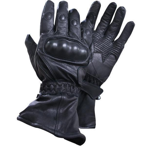 Xelement XG815 Men's Black Leather Motorcycle Winter Gloves