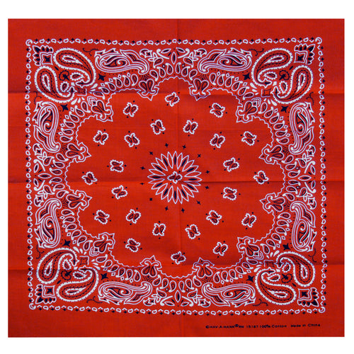 Hot Leathers BAP1009 Classic Red Paisley Bandana