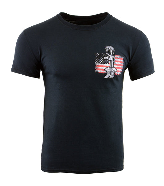 Biker Clothing Co. BCC116009 'In Memory to All Our Veterans' Motorcycle Cotton T-Shirt