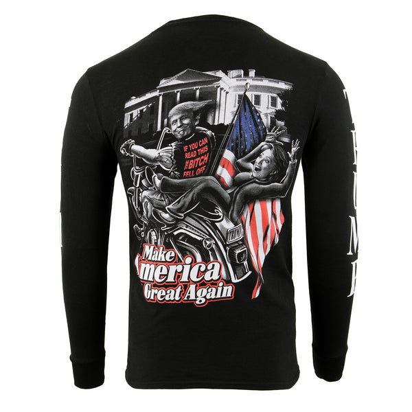 Biker Clothing Co. BCC117012 'Make America Great Again' Motorcycle Long Sleeve T-Shirt
