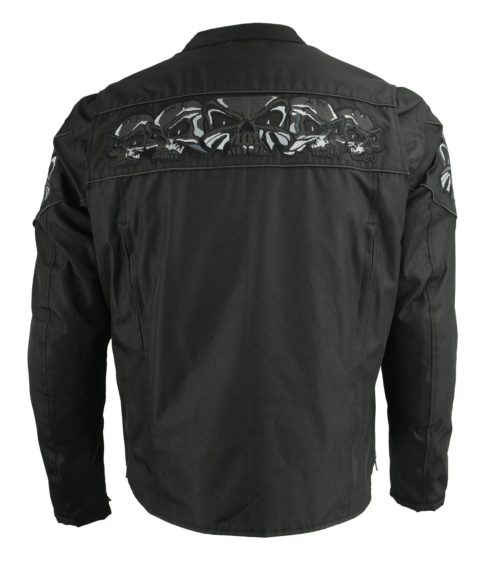 M Boss Motorcycle Apparel BOS11704 Mens Black Textile Jacket with