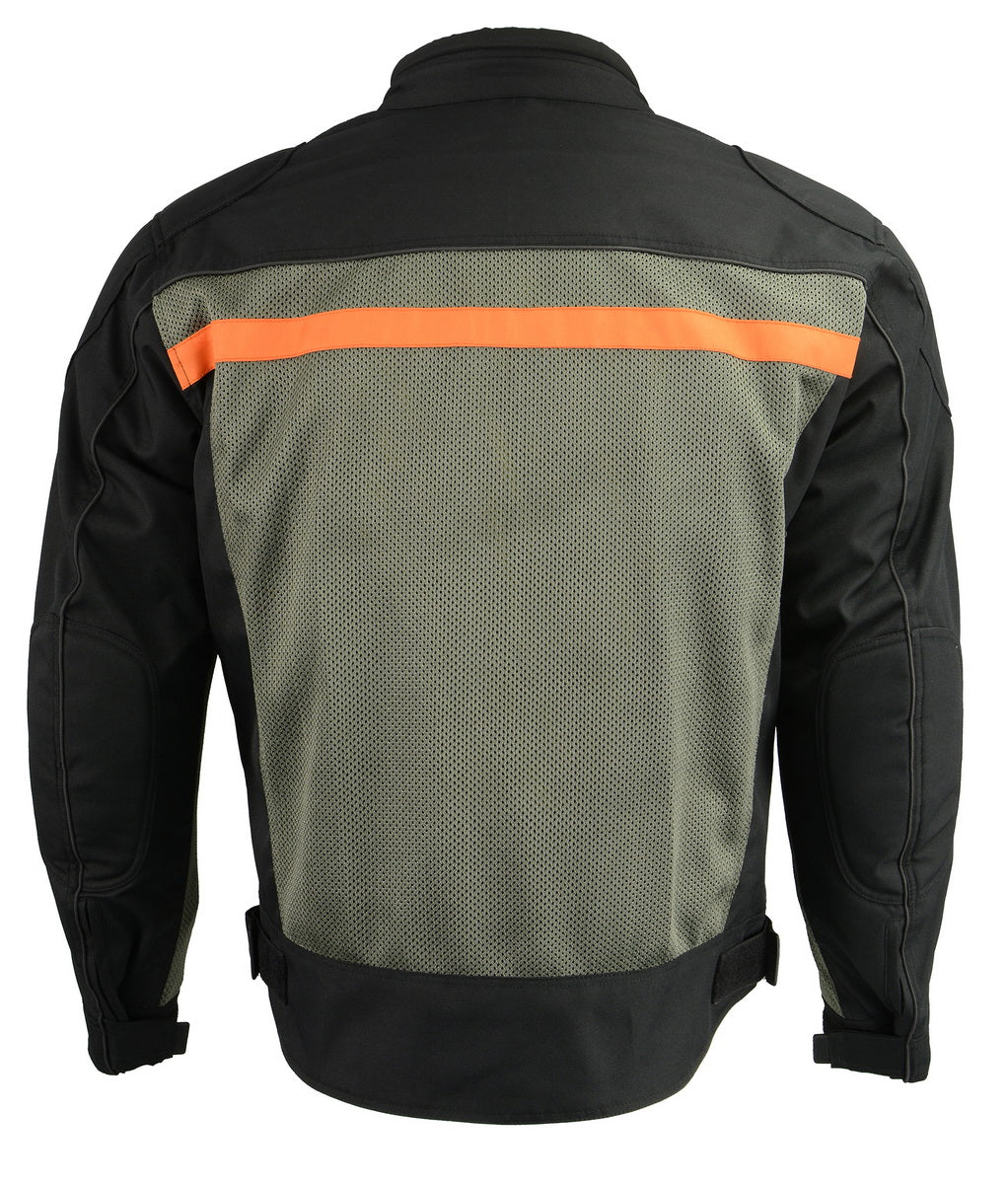 M Boss Motorcycle Apparel BOS11707 Mens Black and Grey Nylon and Mesh