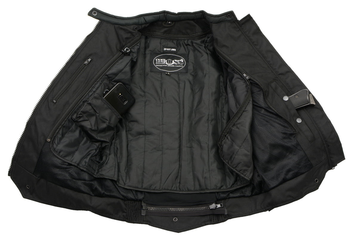 M Boss Motorcycle Apparel BOS22701 Ladies Black Textile Armored Racing
