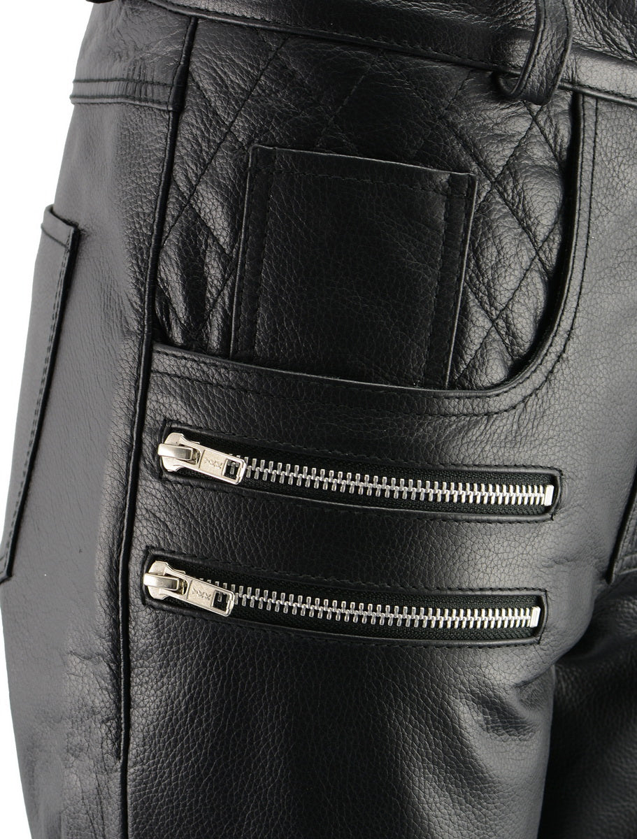 M Boss Motorcycle Apparel BOS26500 Ladies Black Vixen Leather