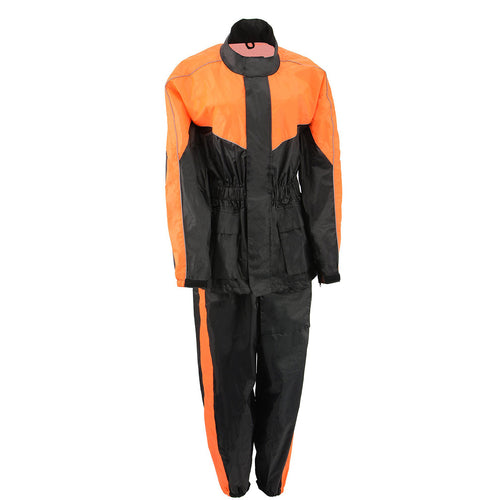 M-Boss Motorcycle Apparel BOS29601 Unisex Two-Piece Motorcycle Rain Gear