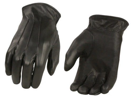 Xelement XG37533 Men's Black Welted Thermal Lined Leather Gloves